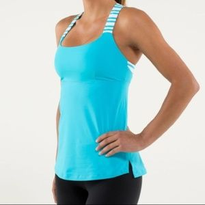 Lululemon Track and Train Tank Top Spry Blue